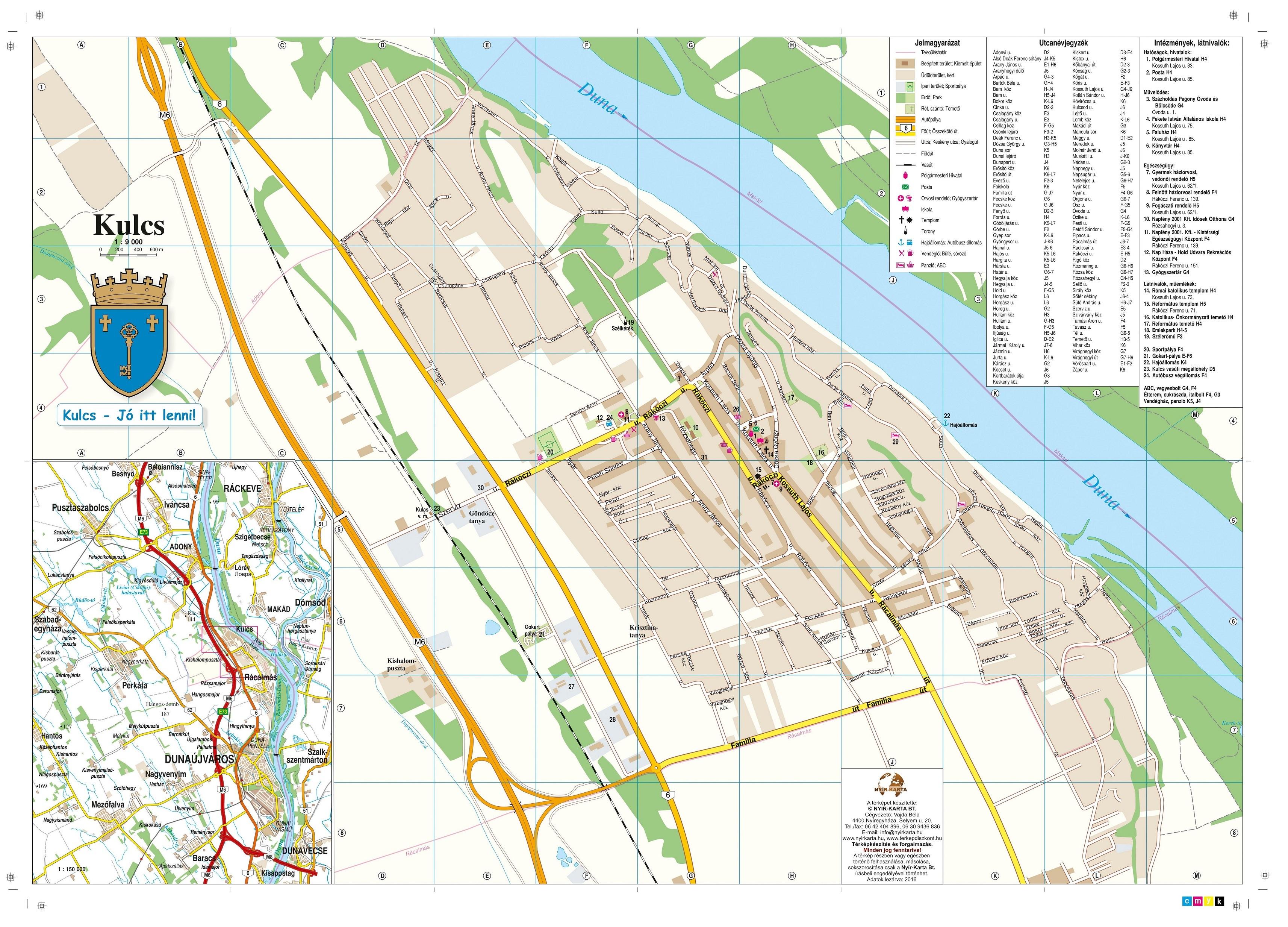 Kulcs Község térképe